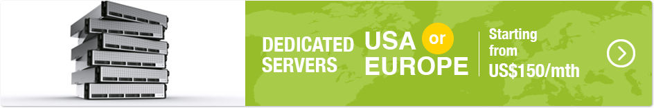 Dedicated Servers In USA, Europe or Singapore